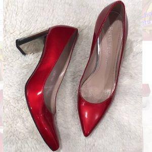 Stuart Weitzman 'Nupower' Litely Red Pumps Heels